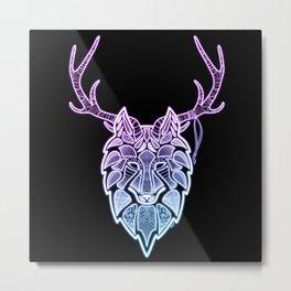 Neon Rithe Wolf Metal Print
