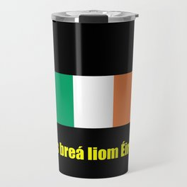 flag of ireland 8 -ireland,eire,airlann,irish,gaelic,eriu,celtic,dublin,belfast,joyce,beckett Travel Mug
