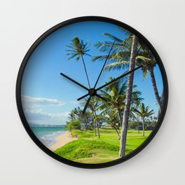 Waipuilani Beach Kihei Maui Hawaii Wall Clock