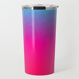 Blue purple and pink ombre flames Travel Mug