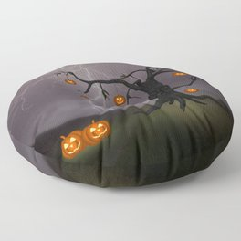 SCARY HALLOWEEN TREE Floor Pillow