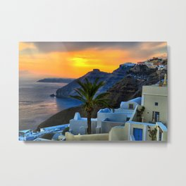 Santorini 11 Metal Print