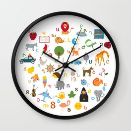 Western Armenian Alphabet Wall Clock