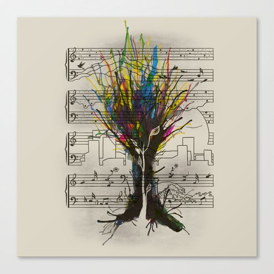 Ink Chords Canvas Print