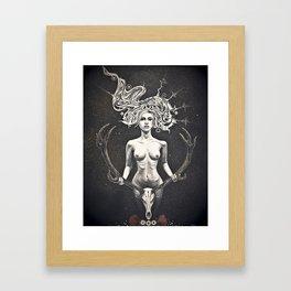 the Huntress Framed Art Print