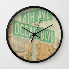 Ocean Boulevard Wall Clock
