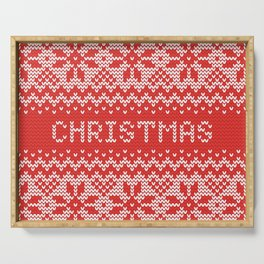 Christmas Pattern Serving Tray