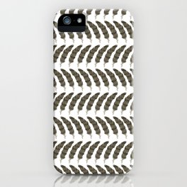 Northern Goshawk, dorsal feather PATTERN iPhone Case