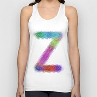 letter Tank Tops featuring Letter Z by David Zydd