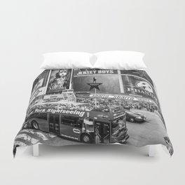 Times Square II (B&W widescreen) Duvet Cover