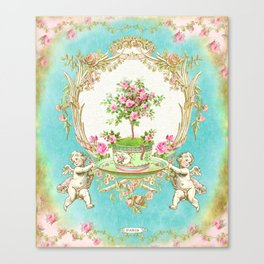 French Baroque Patisserie Tea Canvas Print