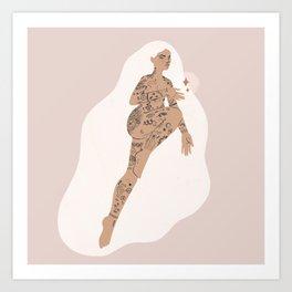 inky lady II Art Print