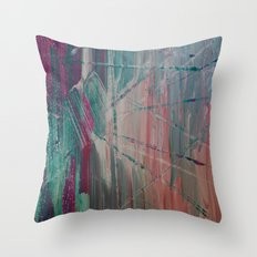 Basket Ski Throw Pillow
