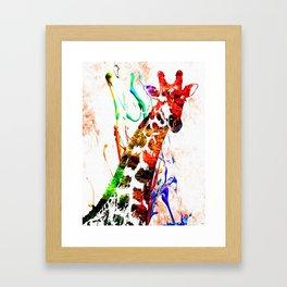 Giraffe Grunge Framed Art Print