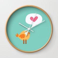 Love Birdie Wall Clock
