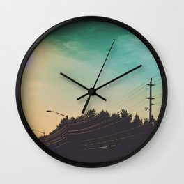 On the Road #2 Wall Clock