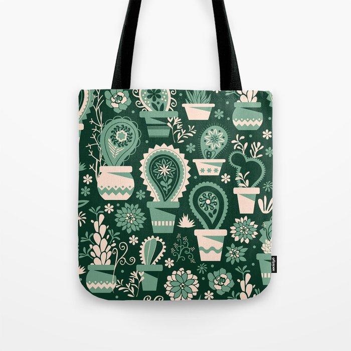 Paisley succulents Tote Bag
