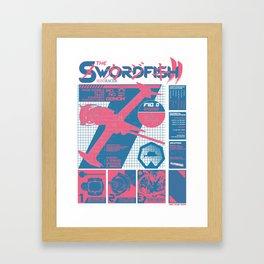 The Swordfish II Manufacturer's Guide (Cowboy Bebop) Framed Art Print