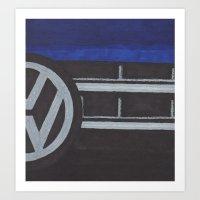 volkswagen Art Prints featuring Volkswagen by Marika Kuylman