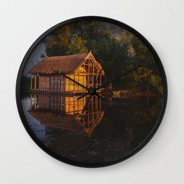 Lake house Wall Clock