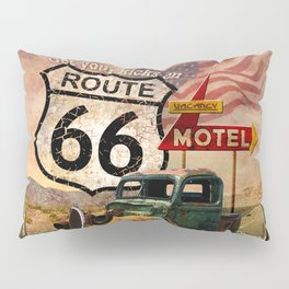 Get your Kicks on Route 66 Pillow Sham