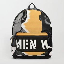 Men Working Together Backpack