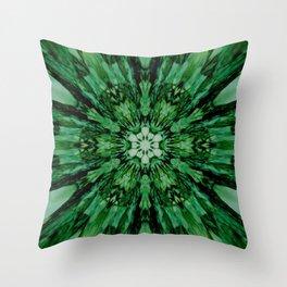 Green Starburst 1 Throw Pillow