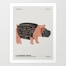 BROKEN BARREL Art Print