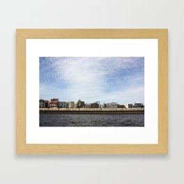 The city from the river  Framed Art Print