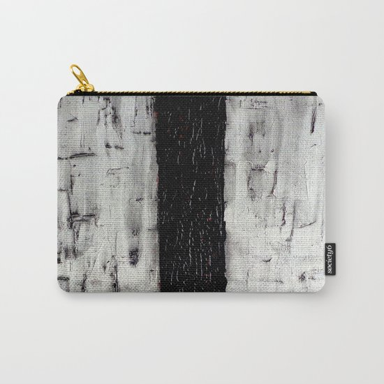 Dark Path - Black and white abstract Carry-All Pouch