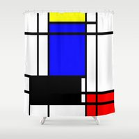 mondrian Shower Curtains featuring Mondrian by Fine2art
