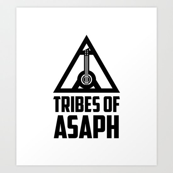 Tribes Of Asaph (Black on light) Art Print
