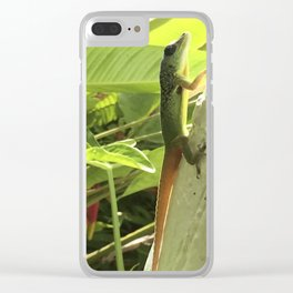 Green Gecko Clear iPhone Case