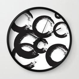 abstract geometry circles Wall Clock