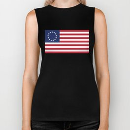 Betsy Ross flag of the USA - Authentic HQ version Biker Tank