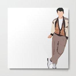 Ferris Bueller Graphic Metal Print