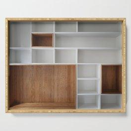 Empty closet shelves Serving Tray