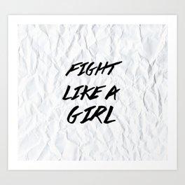 Fight Like A Girl Art Print