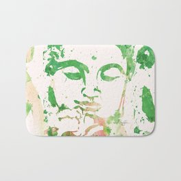 Watercolor Buddha No. 206 by Kathy Morton Stanion Bath Mat