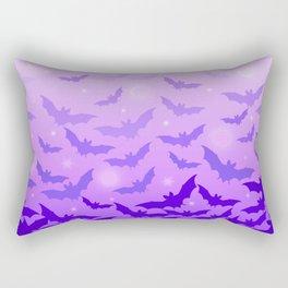 Bats set off into the night Rectangular Pillow