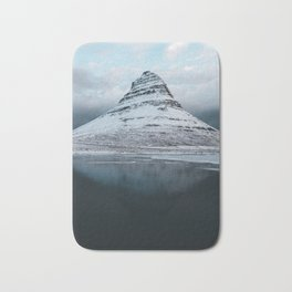 Iceland Mountain Reflection - Landscape Photography Bath Mat