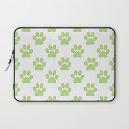 Cute green paw prints Laptop Sleeve