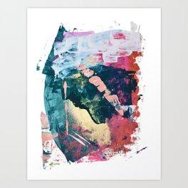 Taos: A vibrant abstract mixed-media painting in various colors by Alyssa Hamilton Art Art Print