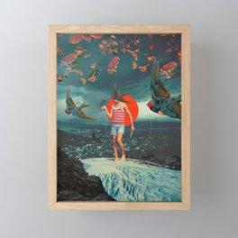 The Boy and the Birds Framed Mini Art Print