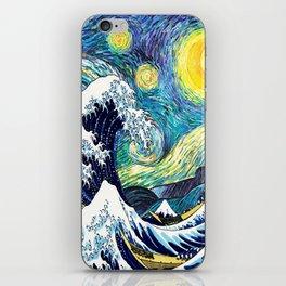 Starry Wave Night iPhone Skin