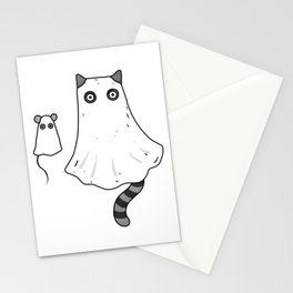 Cat Ghost & Mouse Ghost – Nightmare Stationery Cards