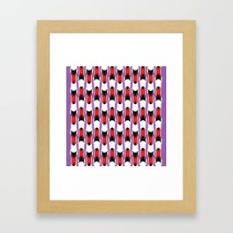 SWAN STRIPE Framed Art Print