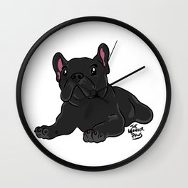 Chill Frenchie Wall Clock