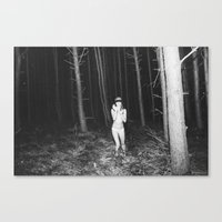 laura palmer Canvas Prints featuring Laura Palmer I by Linas Vaitonis