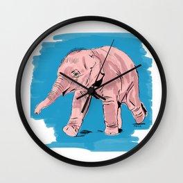 Ely the Baby Elephant Wall Clock